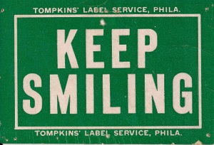 Scan of Keep Smiling Card