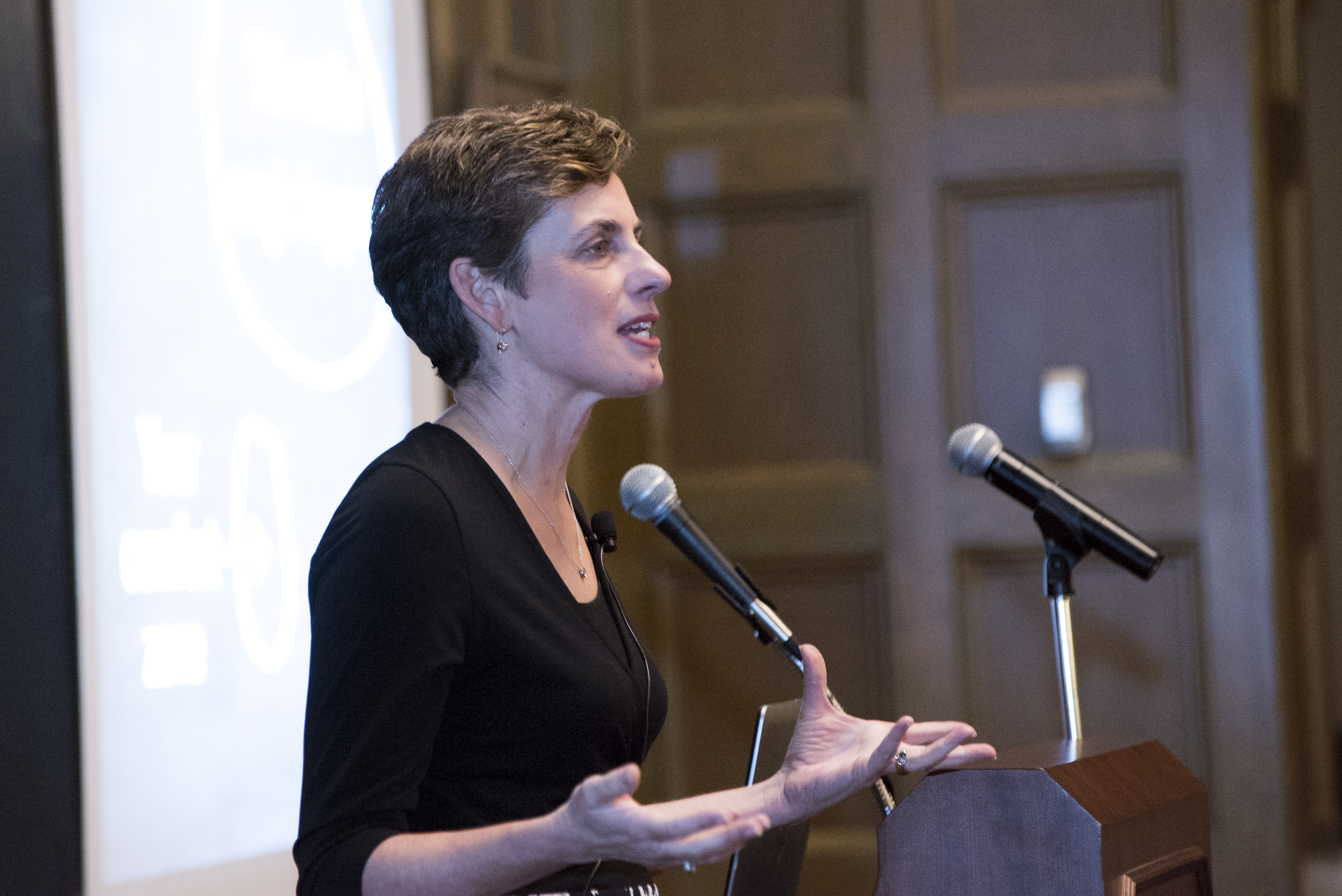 Karen delivering the CEWiT Summit Keynote at Indiana University in February 2017