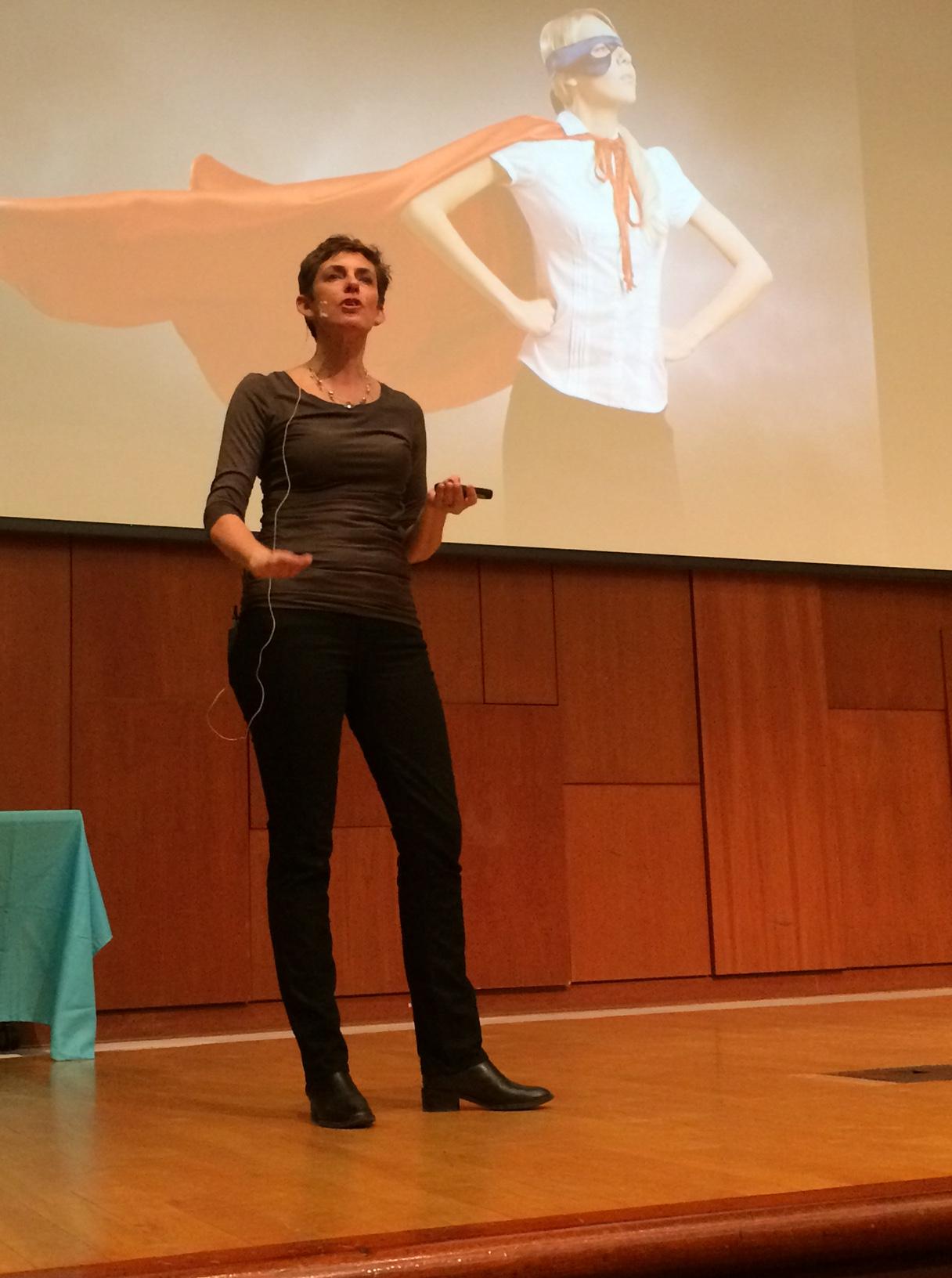 Karen speaking at Hack at Brown
