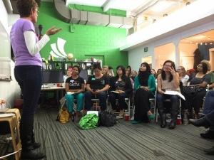 Karen speaking at a Femgineer Forum