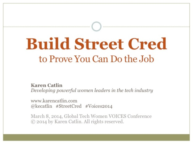 Title page of Karen't Street Cred presentation