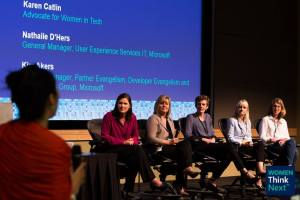 Panelists at Women Think Next event at Microsoft June 2015