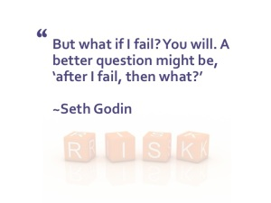 Seth Godin quote on failure