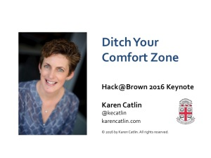Ditch Your Comfort Zone title slide