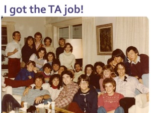 Picture of Karen and the other TA's in 1982