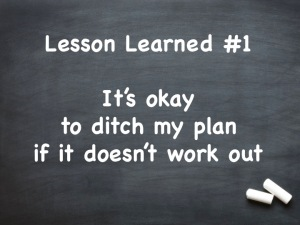 Chalkboard with Lesson Learned #1