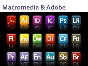 Adobe application icons