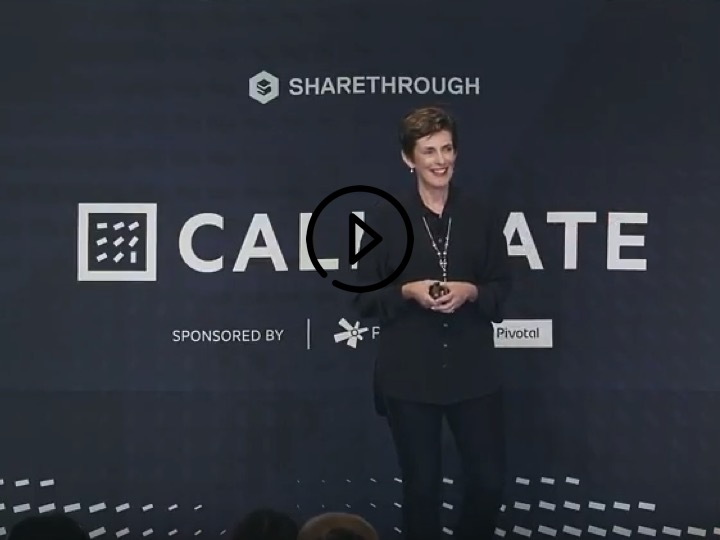 Catlin speaking at the 2017 Calibrate SF conference